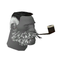 Lord Cockswain's Novelty Mutton Chops and Pipe